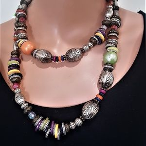 Chico's LIVIA LONG BEADED NECKLACE MULTI COLOR